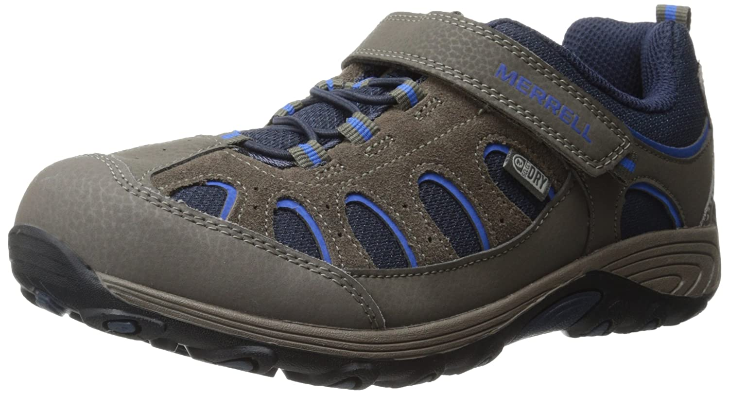 Merrell Chameleon Alternative Closure Waterproof Hiking Shoe (Little Kid/Big Kid) Gunsmoke/Blue 10.5 W US Little Kid