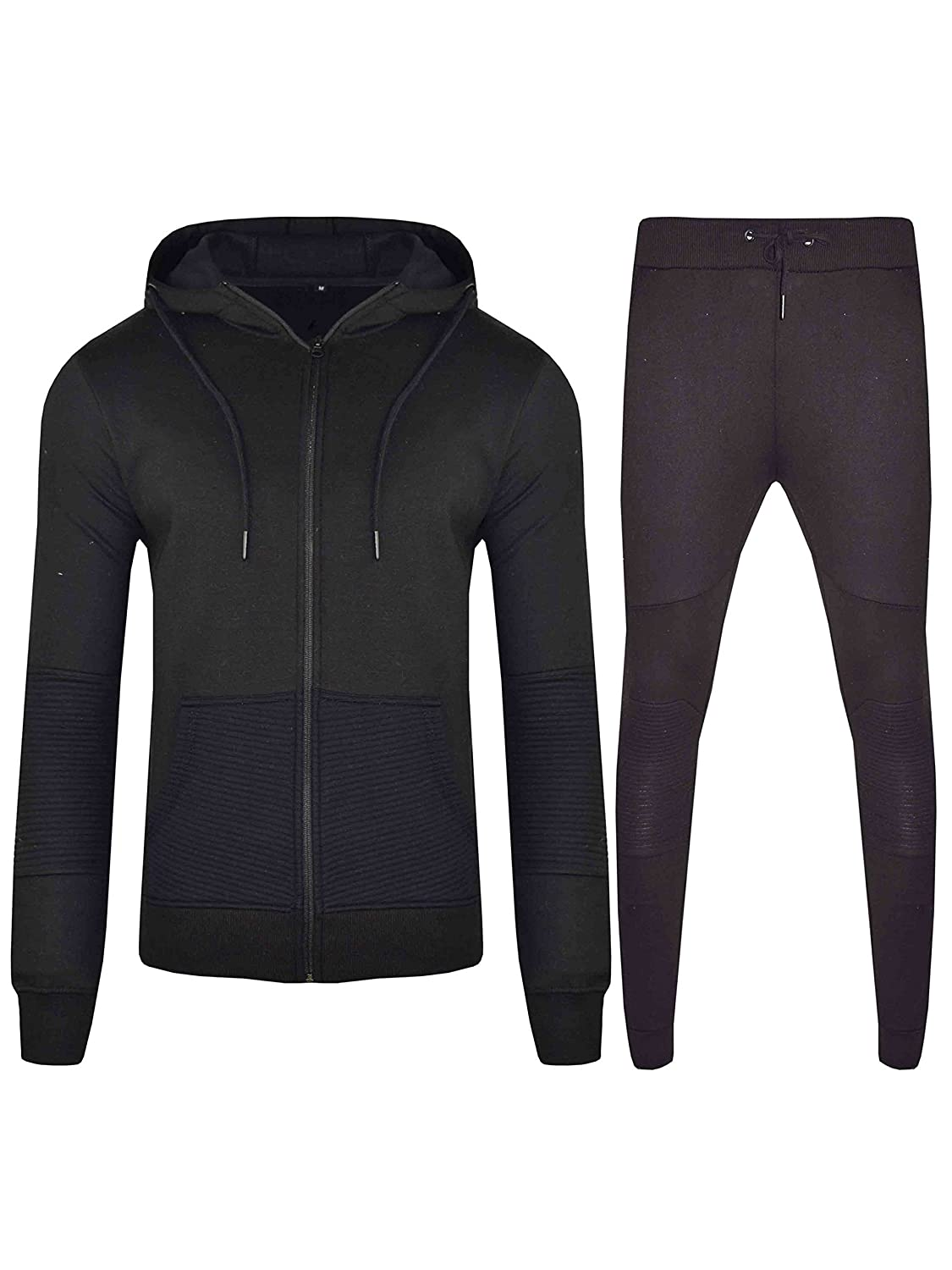 013599c7df1 Men Tracksuit Set Fleece Hoodie Bottom Jogger Kids Contrast Cord Gym Active  wear at Amazon Men s Clothing store