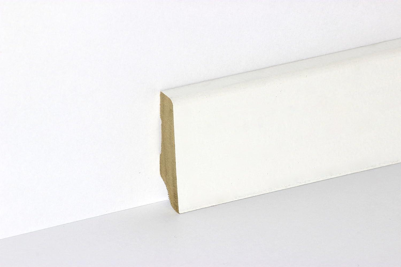 Sockelleiste Bordeaux 14x80 mm wei/ß deckend lackiert