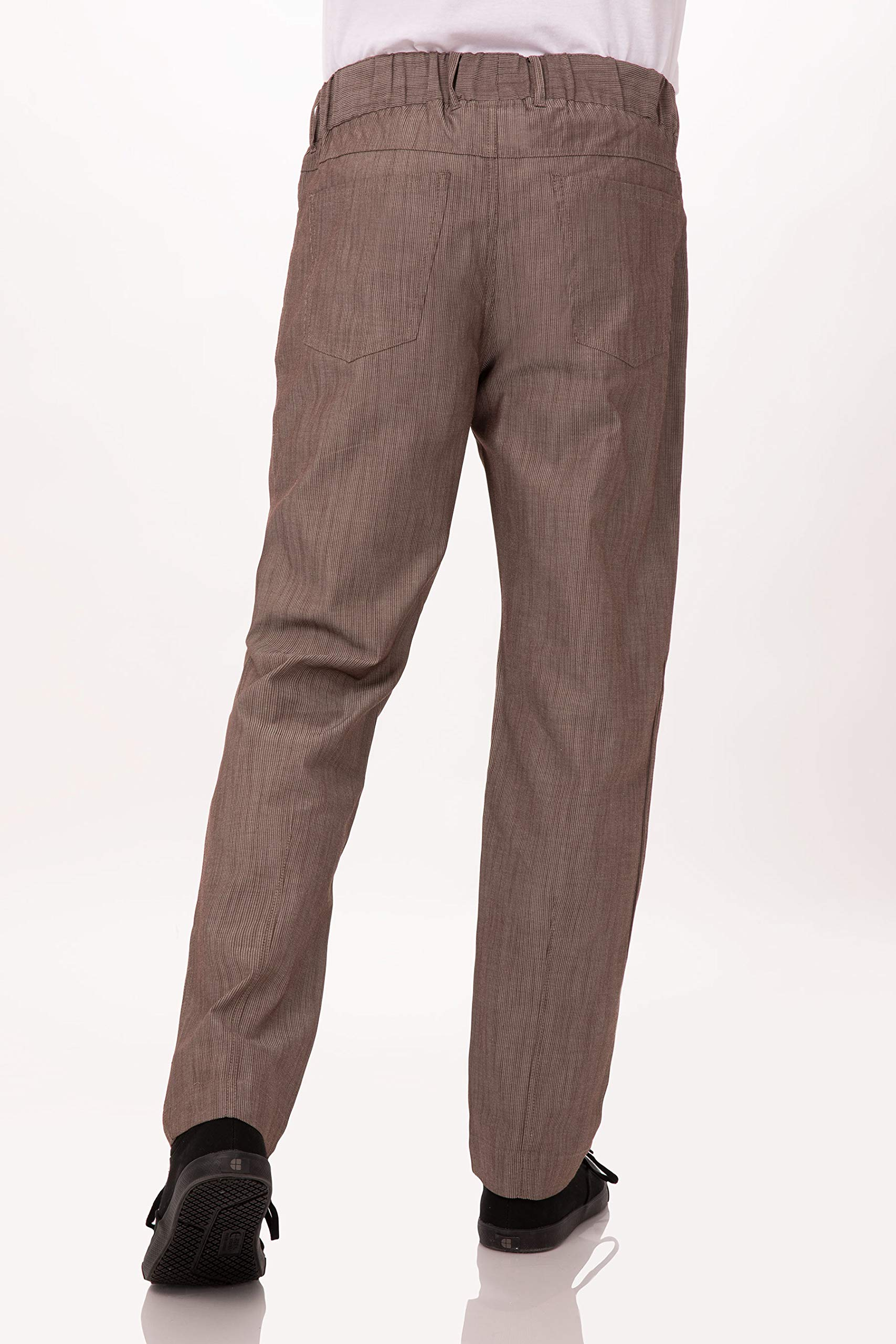 Black /& White Stripe Medium TAXFREE Chef Works Men/'s Jogger 257 Chef Pants