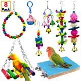 AK KYC 8 Pack Bird Parrot Toys Swing Chewing