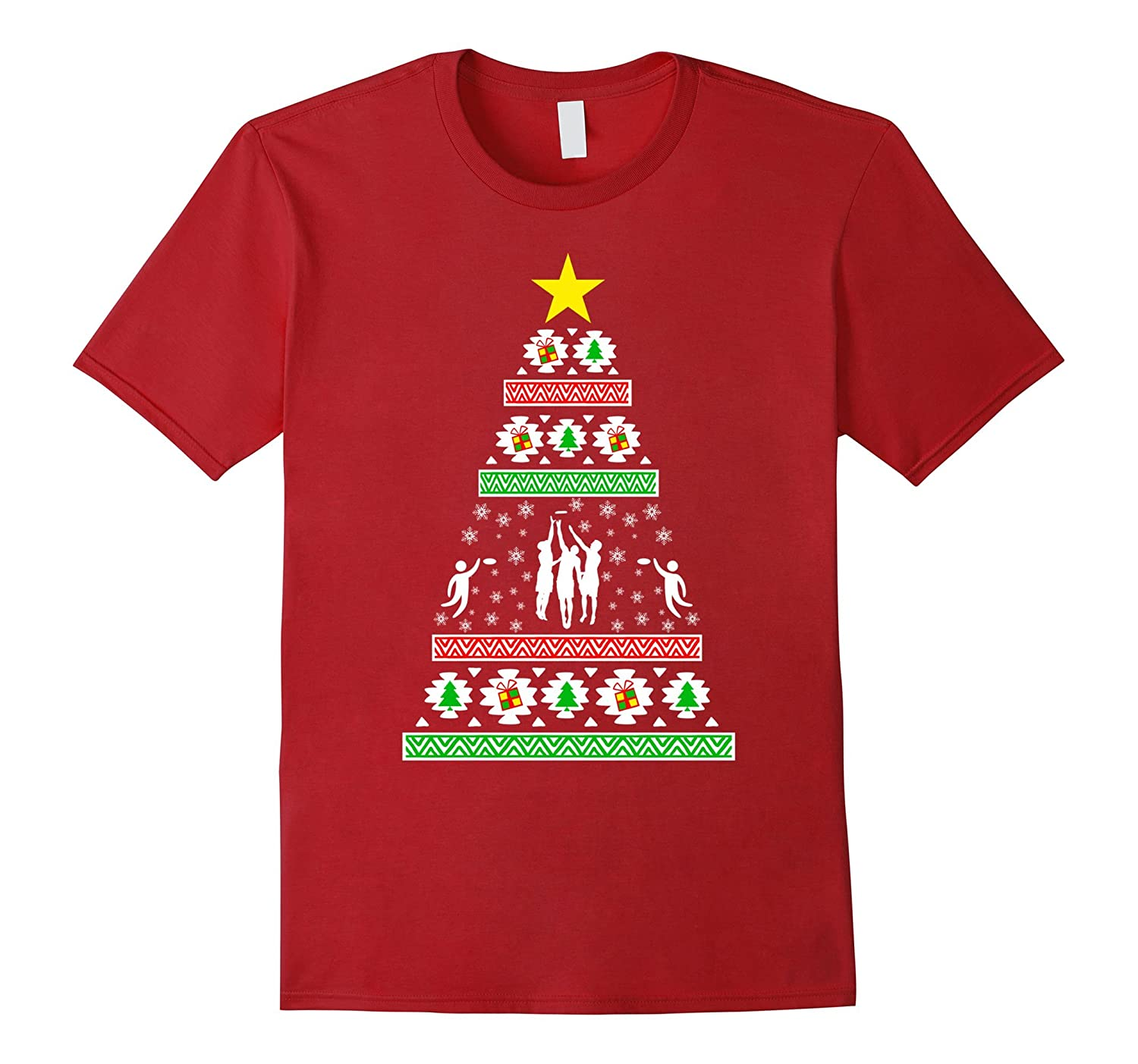 Ultimate Frisbee gifts idea ugly christmas sweater look-TD – theteejob