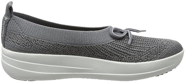 Uberknit Slip-on High Top Sneaker, Baskets Femme, Multicolore (Metallic Silver/Urban White 567), 38.5 EUFitFlop