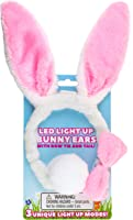Kangaroo Light Up Toys- LED Plush Easter Bunny Ears and Tail, Plus Bowtie