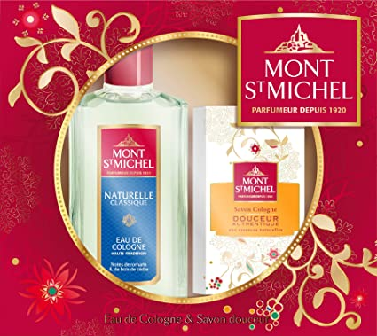 Mont Saint Michel Box 2 Productos Naturales Colonia Botella 250 ml / 125 g de jabón
