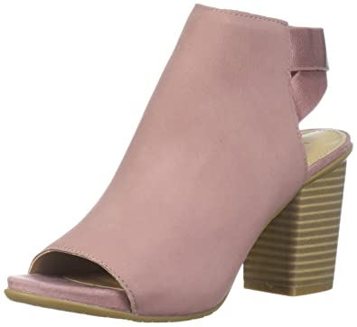 Kenneth Cole REACTION Womens Fridah Fly Toe and Open Heel Ankle Bootie Boot, Guava,