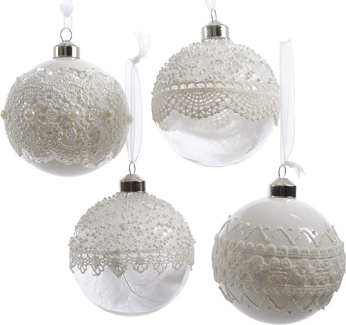 Decorazioni Natalizie 94.Set Di 12 Palline Di Natale Da 8 Cm In Vetro Trasparente Colore Bianco Trasparente Amazon It Casa E Cucina