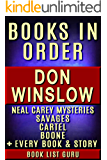 Don Winslow Books in Order: Cartel books, Neal Carey series, Savages books, Boone series, Vintage Crime/Black Lizard…