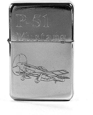 Lighter - P-51 Mustang High Polish Chrome - Star Int. Inc Brand