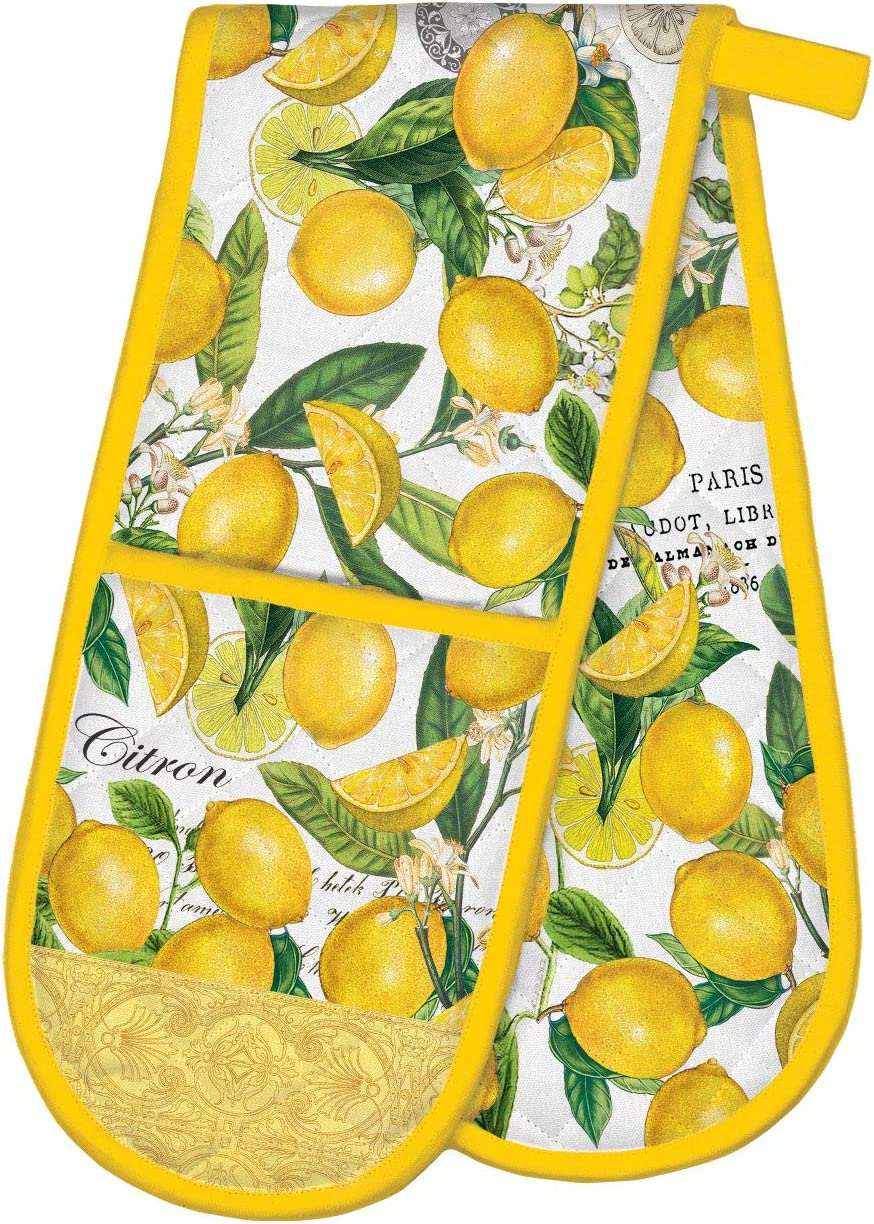 Michel Design Works Double Oven Glove, Lemon Basil