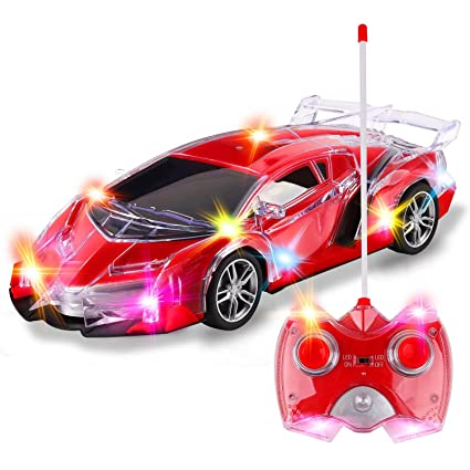 Amazon Com Light Up Rc Remote Control Racing Car 1 24 Scale Radio