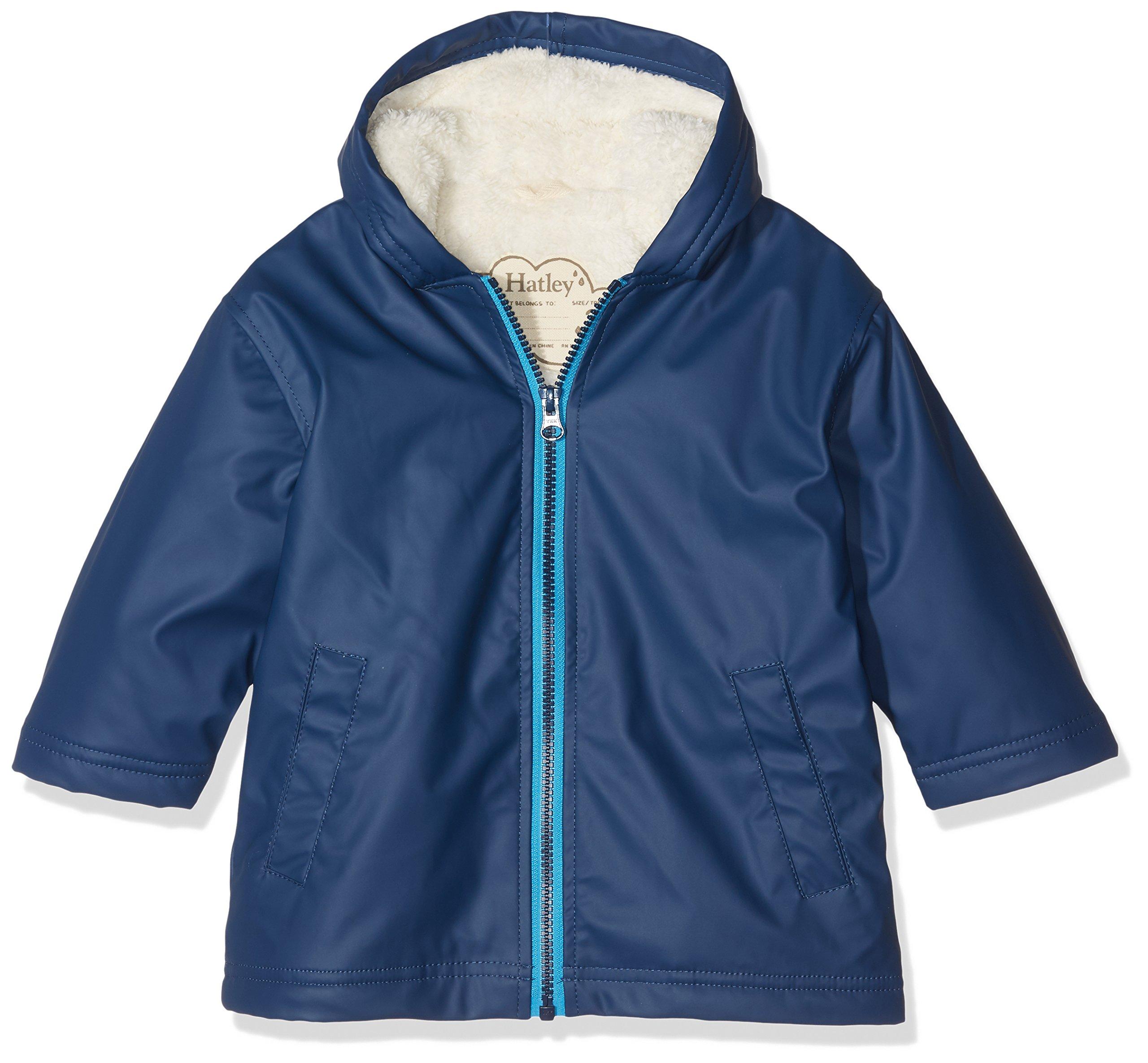 Hatley Big Boys' Splash Jacket, Classic Navy, 7