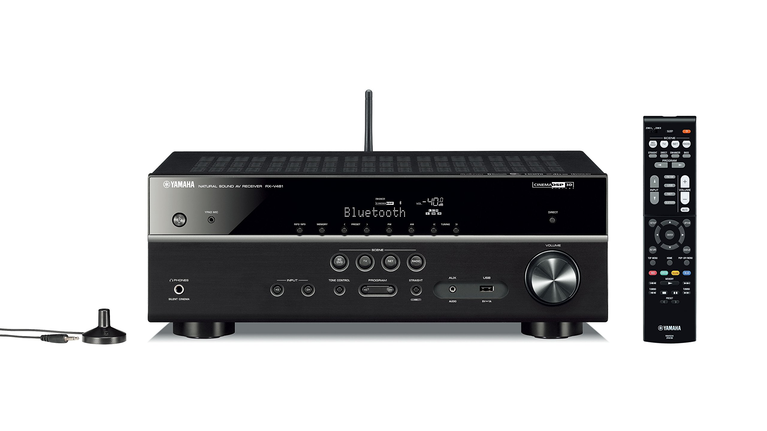 Yamaha RX-V481 - Receptor AV con AirPlay, radio por Internet, Wi-