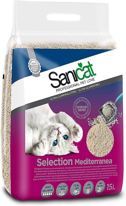 Sanicat Select Mediterranea Arena de Gatos Ultra Aglomerante - 15L ...