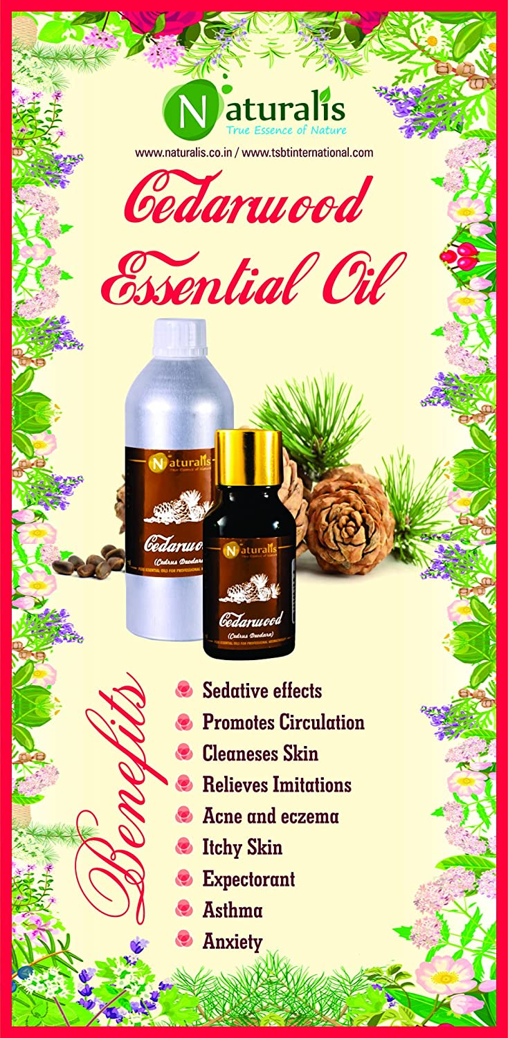 Cedarwood Essential Oil by Naturalis 100% Pure Natural Essential Oil - 30ml