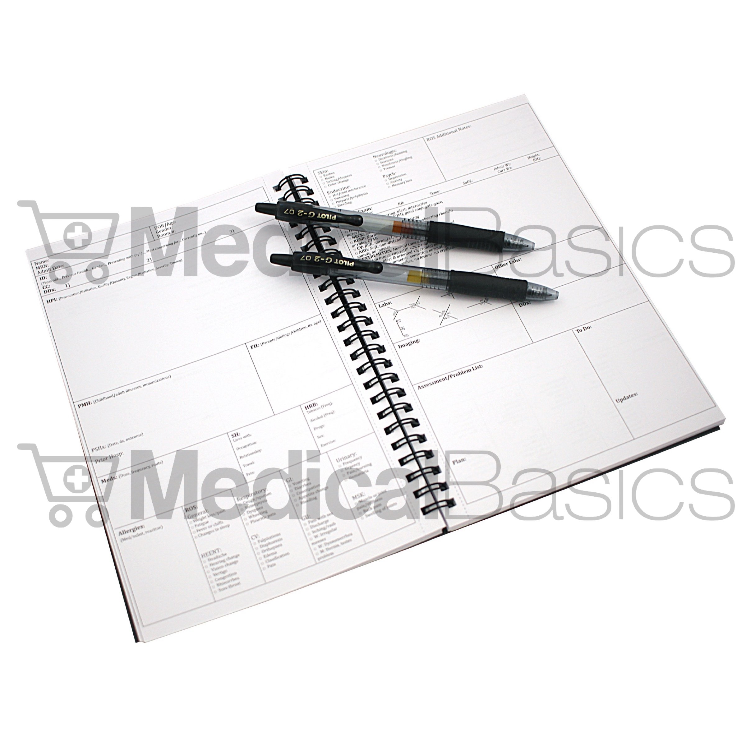 H&P notebook (3 pack) - Medical History and Physical notebook, 100 medical templates with perforations by Medical Basics (Image #5)