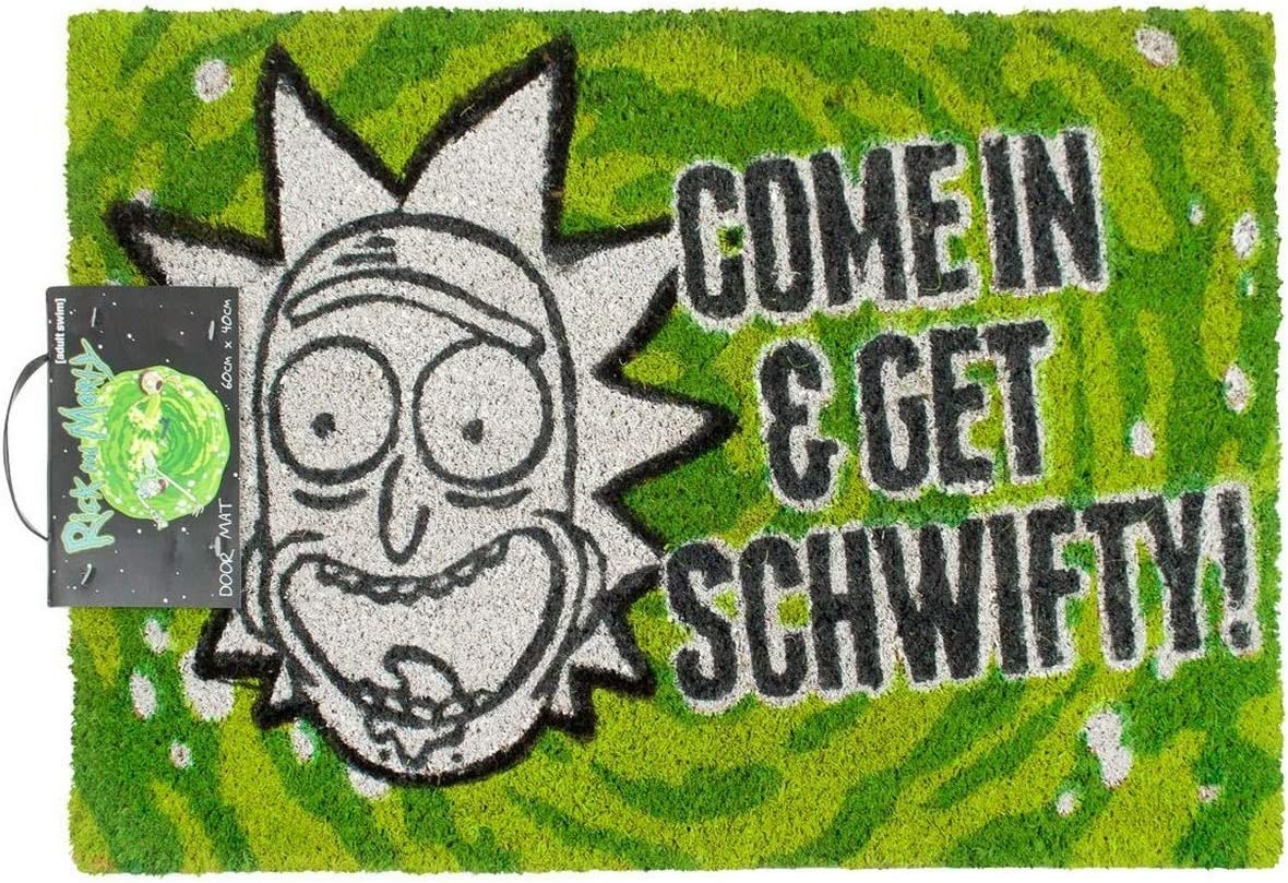 Amazon Com Rick And Morty Come In And Get Schwifty Door Mat One