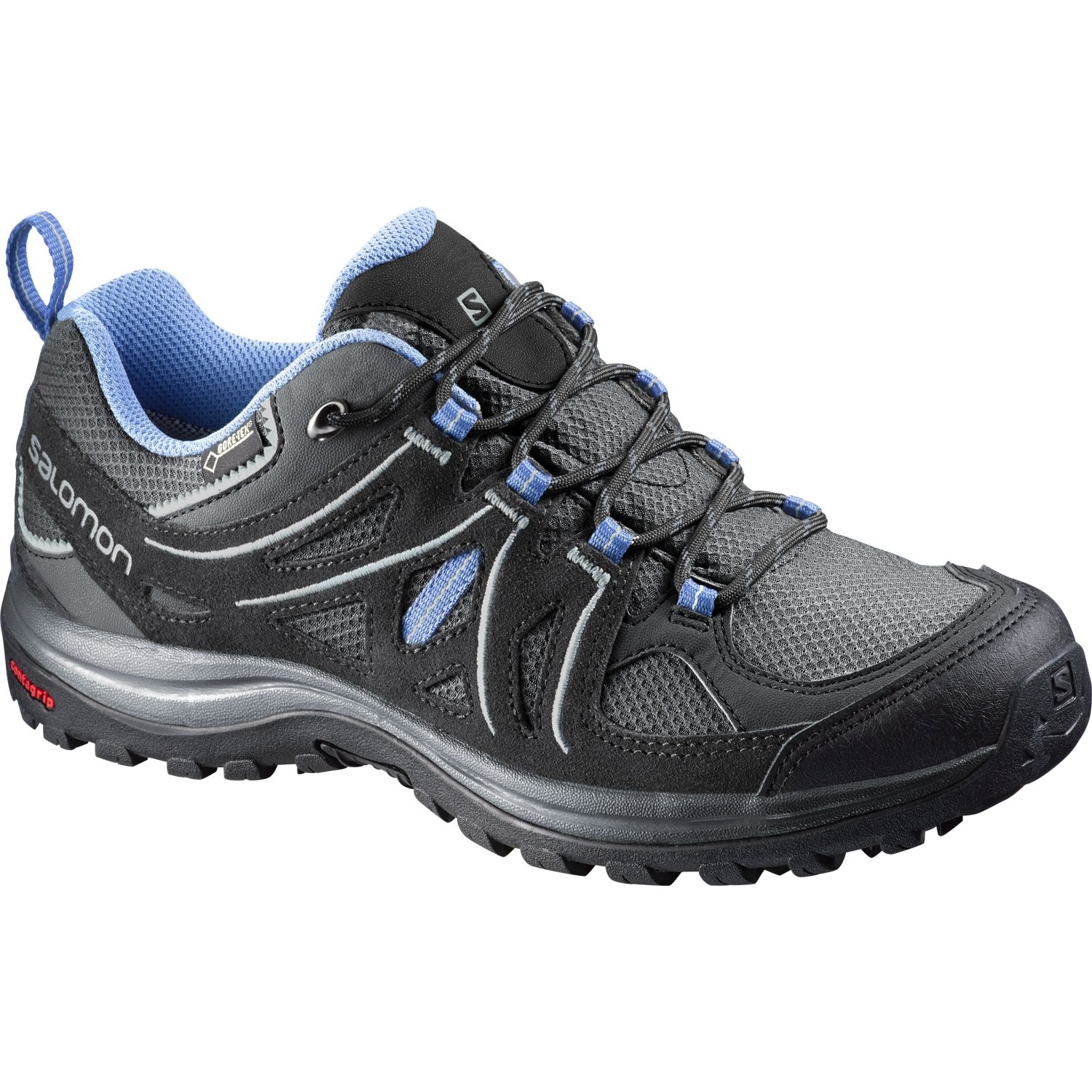 Salomon Women's Ellipse 2 GTX W Hiking Shoe B00ZLN8JBI 7 B(M) US|Asphalt/Black/Petunia Blue