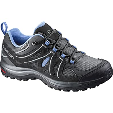 Salomon Womens Ellipse 2 GTX W Hiking Shoe       Asphalt Black Petunia Blue
