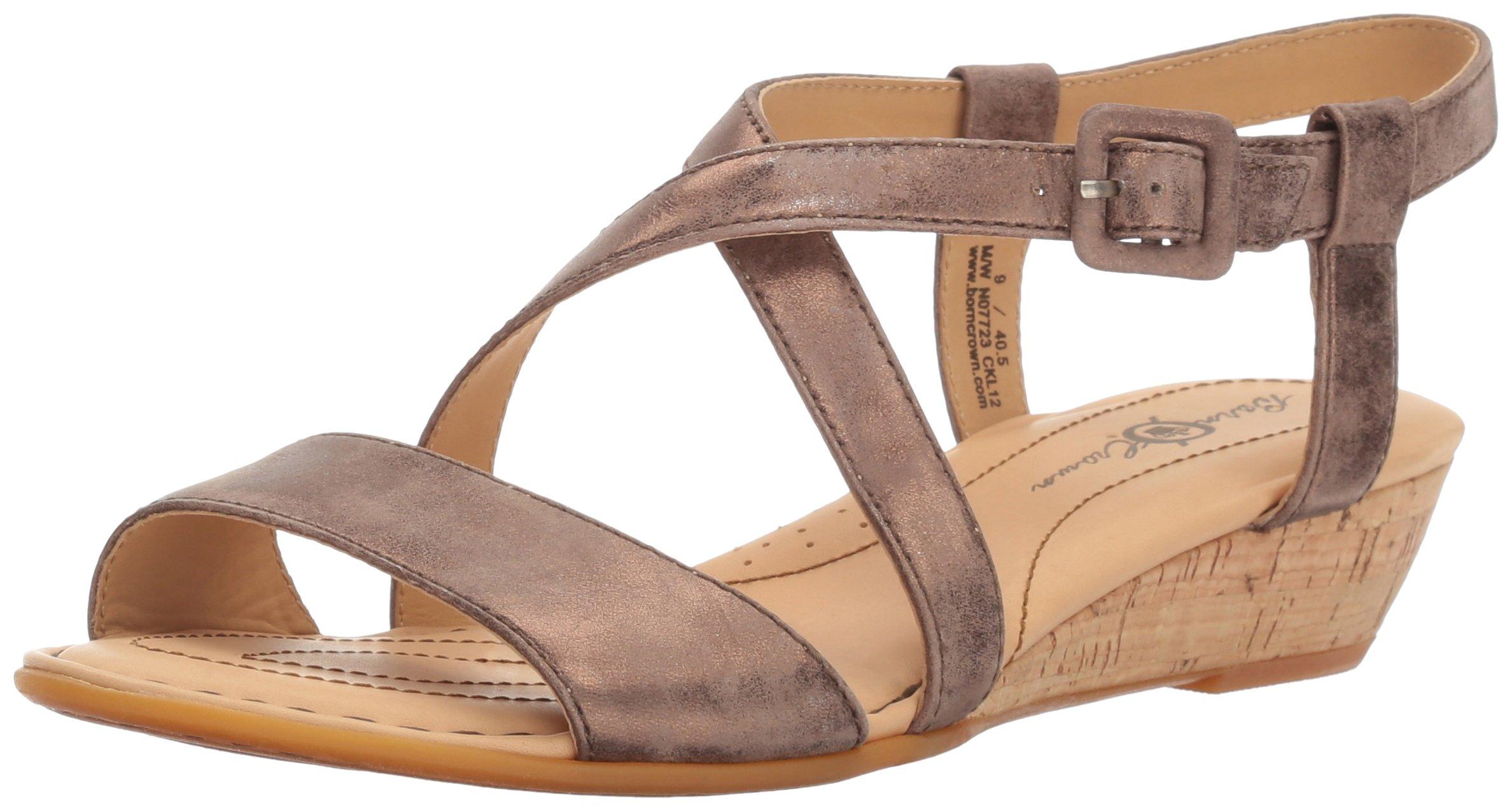 Born Women's Yelena - Crown Collection T Moro (Dark Brown) Metallic Sandal 9 M (B)