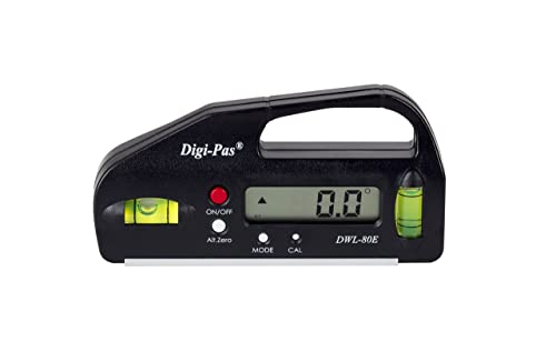 DigiPas DWL80E Mini Pocket Size Digital Level, Electronic Angle Gauge, Protractor