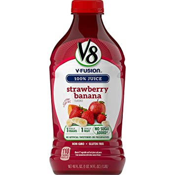 Amazon Com V8 Strawberry Banana 46 Oz Bottle Prime Pantry
