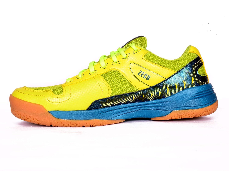 SEGA Zeco Yellow Badminton Squash Tennis Multipurpose Court Shoes Trainers