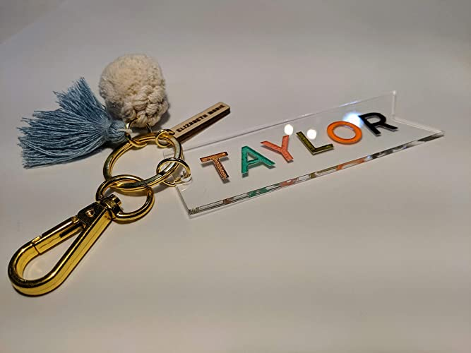 Amazon com: Custom Name Personalized Hand-Painted Engraved Keychain