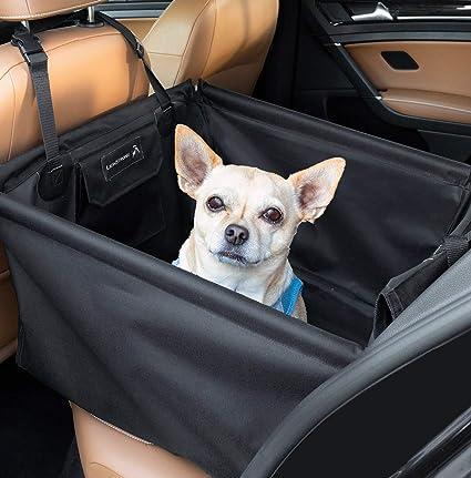 LIONSTRONG Hunde Autositz, kleine bis mittlere Hunde, Hundesitz wasserdicht, Hundedecke, Einzelsitz für die Rückbank +inkl Gr