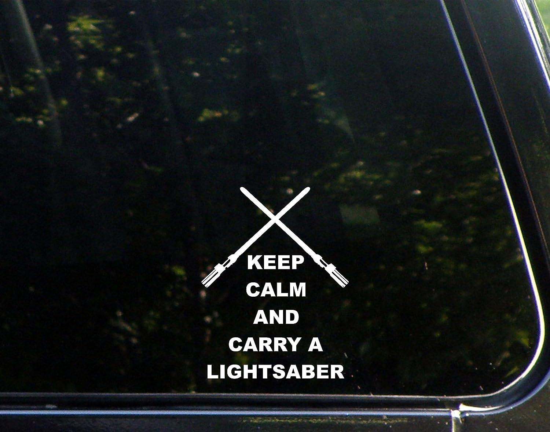 Sweet Tea Decals Keep Calm and Carry A Lightsaber - 3 3/4
