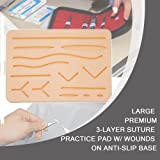 Suture Kit - Suture Pad Training Set with Pre Wound for Medical Students to Practice Suturing | Includes Instrument Tools, 7X Thread with Needle