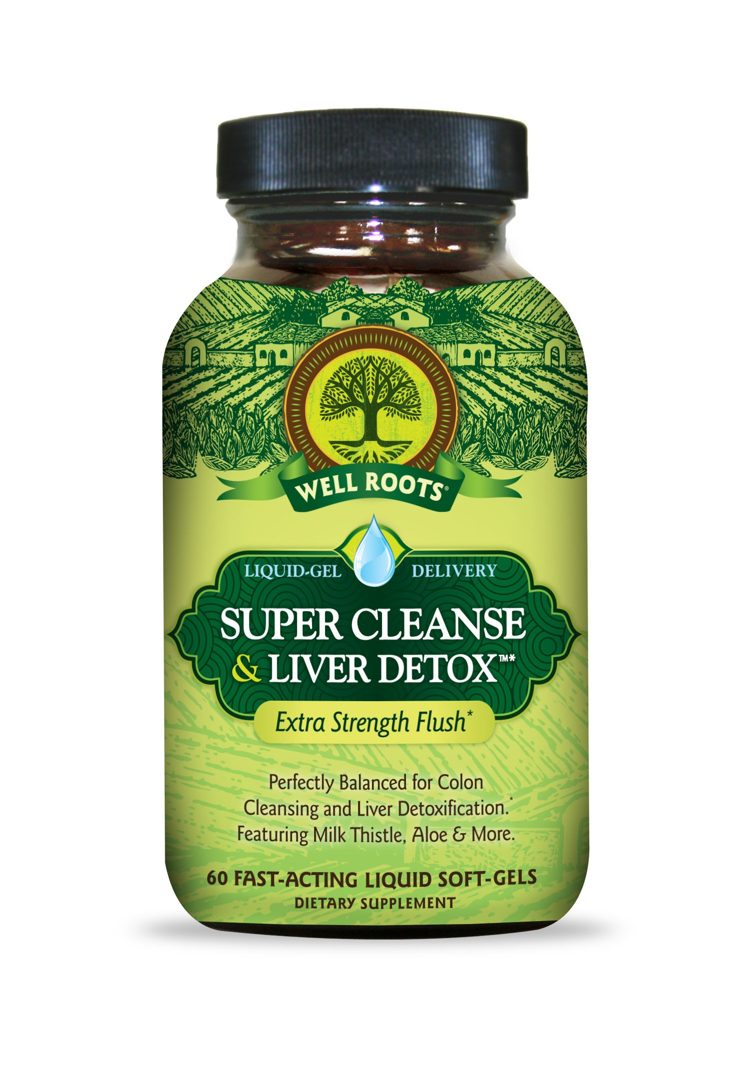 Well Roots Super Cleanse and Liver Detox Supplement, 60 Count by Well Roots
