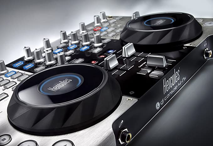 Hercules 4-Mx - Controlador de DJ portátil con audio integrado ...