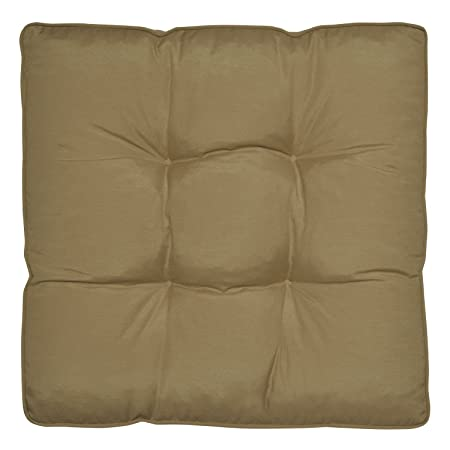Waterproof Outdoor Chair Cushion Olive 60 X 60 X 10 Cm Seat Pad Water  Resistant Cover