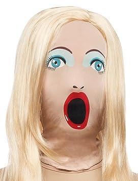 Generique - Máscara muñeca Hinchable con Peluca Adulto ...