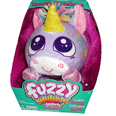Fuzzy Wubble Jigglers (Sparkle The Unicorn): Toys & Games