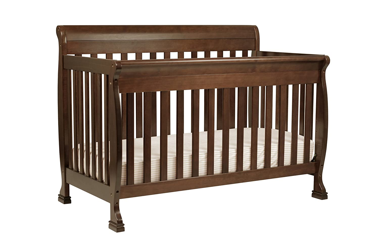 Baby crib youth bed - Amazon Com Davinci Kalani 4 In 1 Convertible Crib With Toddler Rail Espresso Toddler Beds Baby