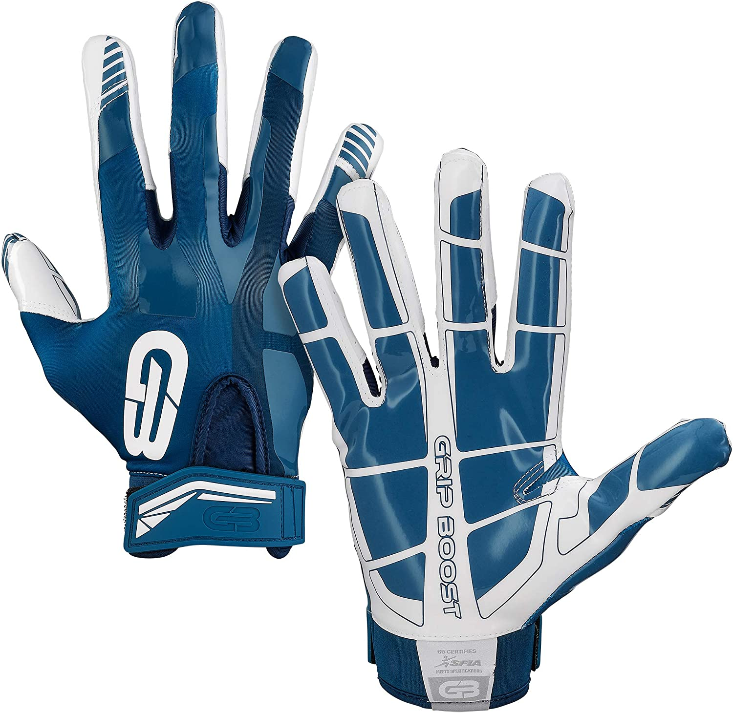 Adult /& Youth Football Glove Sizes Grip Boost Football Gloves Mens #1 Grip Stealth Pro Elite