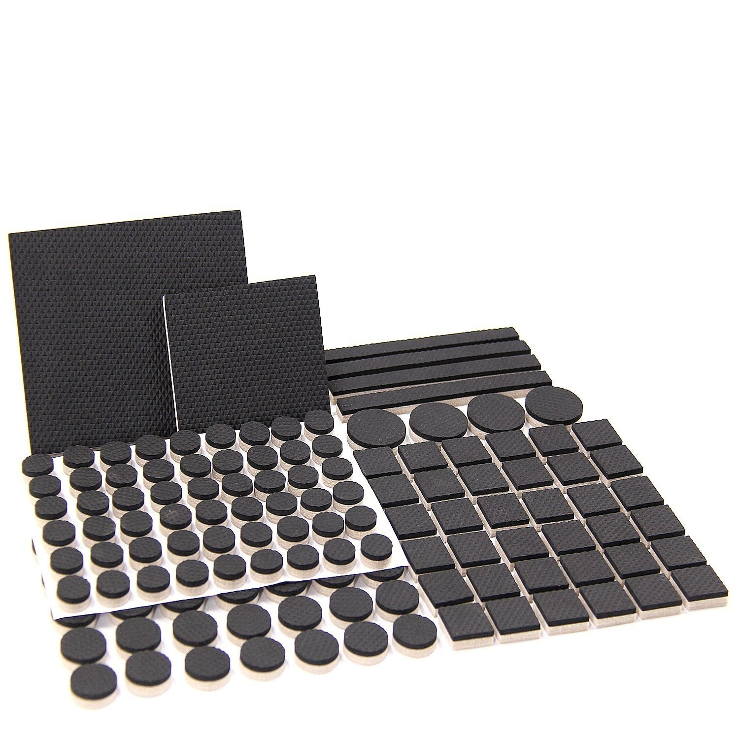 133 PCS Furniture Felt Pads Various Sizes Non-Slip Furniture Feet Protectors Chair Sliders for Hardwood Tiled Floor