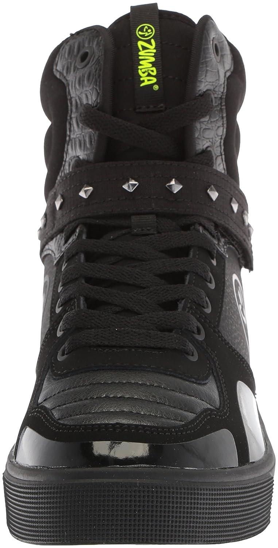 Zumba Women's Street Fashion Sneakers High Top Dance Workout Sneakers Fashion B078WFYS9N 10 B(M) US|Black Studded 501012