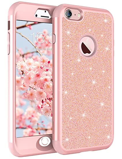 amazon com iphone 8 case iphone 7 case rose gold for women girls