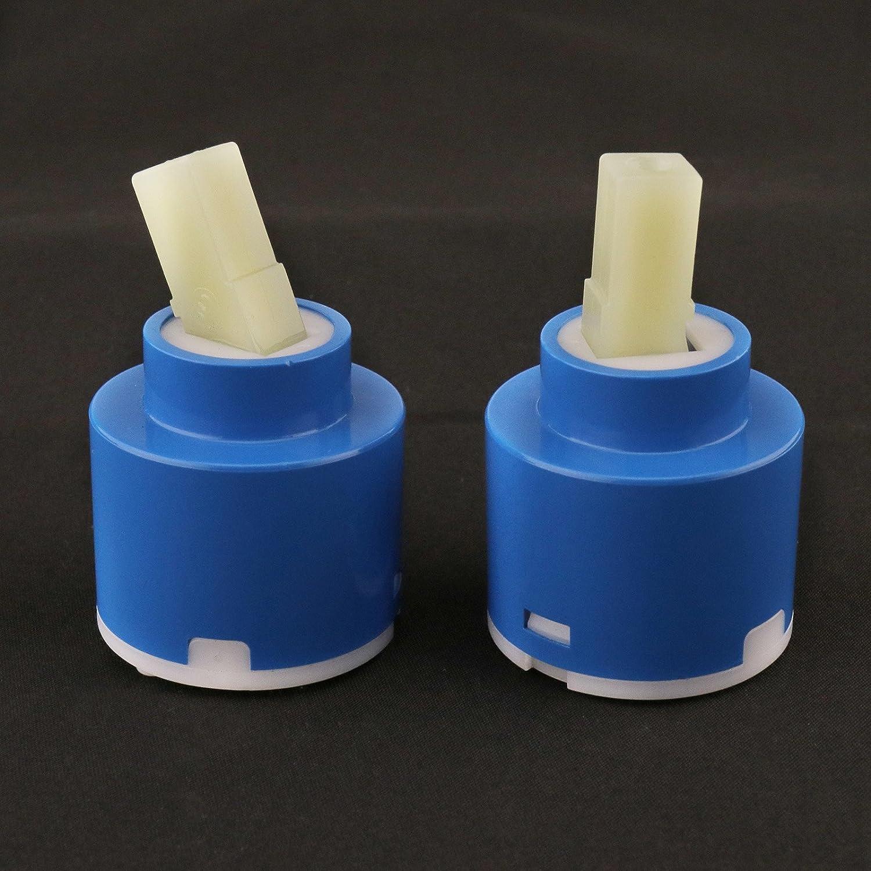 Cocina Ducha Creative-Idea 2 Cartuchos de cer/ámica de 40 mm para Grifo de ba/ño Ducha Ducha reparaci/ón de Herramientas