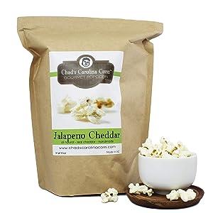 Chads Carolina Corn, Popcorn Jalapeno Cheddar, 3.25 Ounce