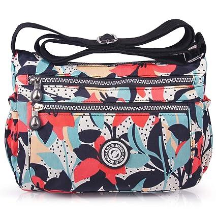 ABLE Mujer Bolsos de Moda Impermeable Mochilas Bolsas de Viaje Bolso Bandolera Sport Messenger Bag Bolsos Mano para Tablet Escolares Nylon (0-Calla ...
