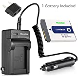 Kastar Battery 1 Pack and Charger with Car Adapter for Sony Type D NP-FD1 NP-BD1 NPFD1 NPBD1 and Sony CyberShot DSC-T2 DSC-T200 DSC-T300 DSC-T500 DSC-T70 DSC-T700 DSC-T90 DSC-T900 Cameras