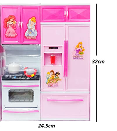 Buy Manya Impex Barbie Doll House Kitchen Set For Kids With Light