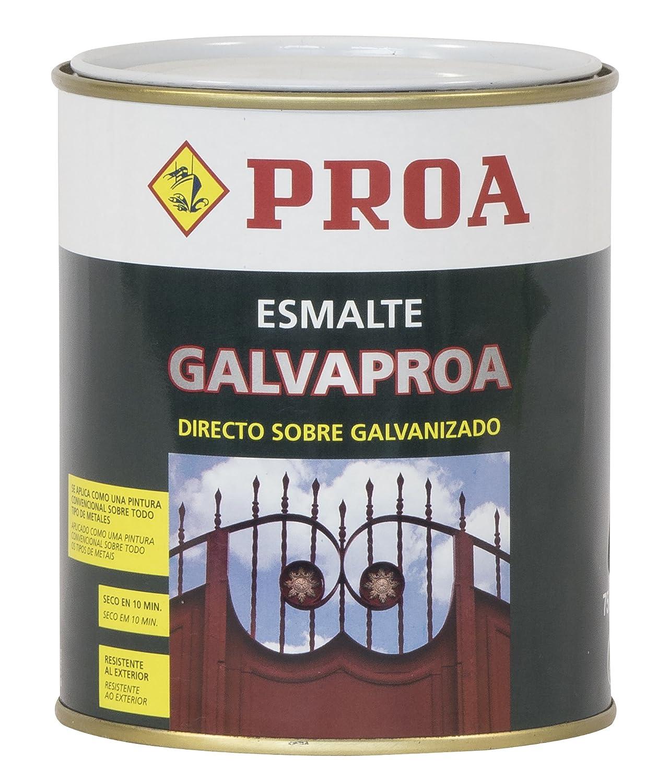 Proa. Esmalte directo sobre galvanizado Galvaproa, Verde Botella RAL 6005. 750 ML Industrias Proa SG605P
