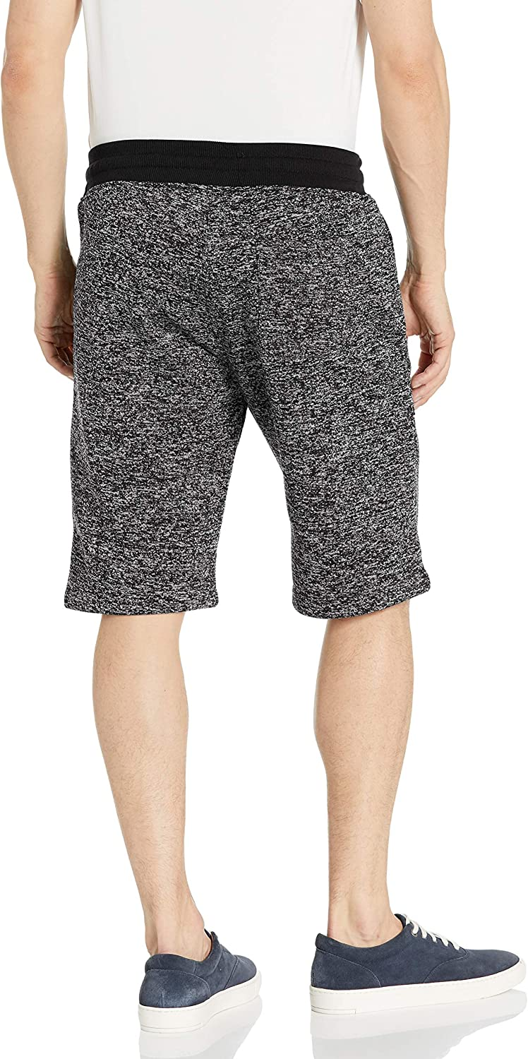 Southpole Mens Basic Marled Fleece Shorts Casual Shorts