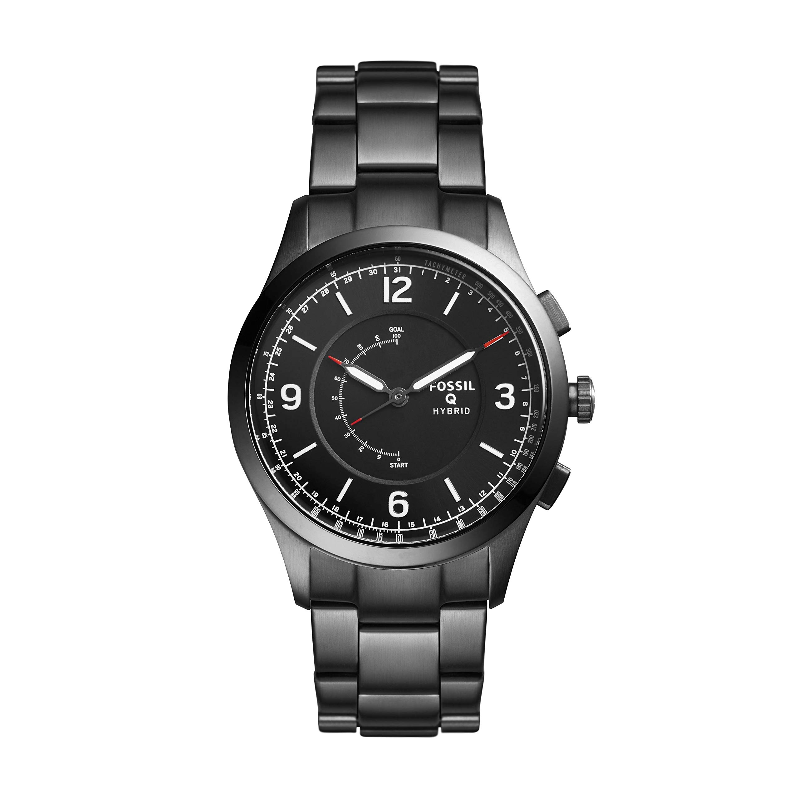 Fossil Hybrid Smartwatch - Q Activist Smoke Stainless Steel FTW1207 by Fossil
