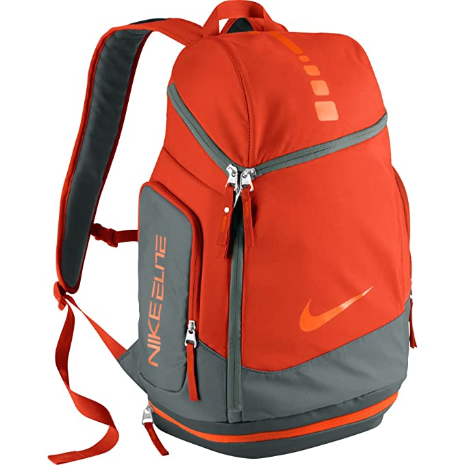 2830fa4972 Nike Hoops Elite Max Air Team Basketball Backpack Team Orange Grey Total  Orange  Amazon.ca  Clothing   Accessories